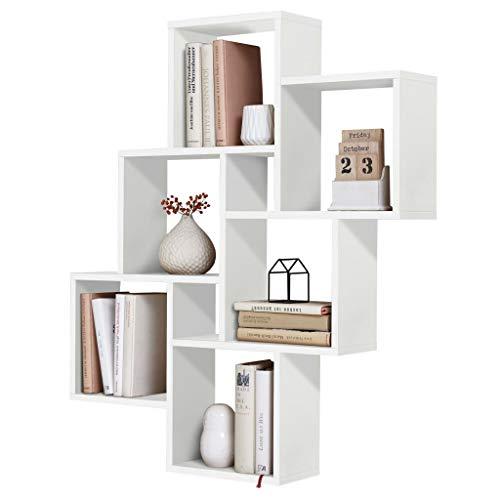 FMD möbel Liberty B10 Mensola, 81,2X15,7X94,3 H cm, Bianco, Nobilitato