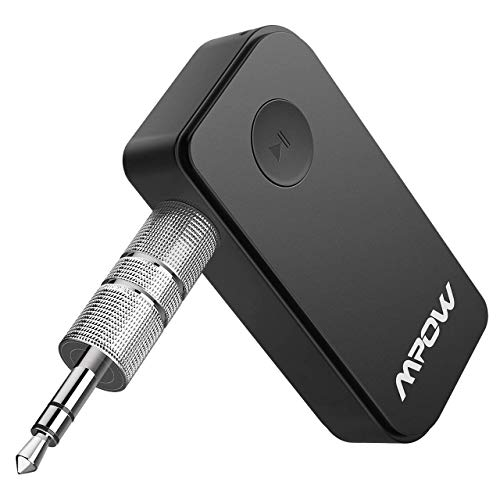 Mpow 044 Bluetooth Receiver 5.0 for Car Stereo, Bluetooth Car Adapter for 10 Hours Non-Stop Music Streaming or 8 Hours Hands-Free Calls,Bluetooth Aux Adapter Supports Siri & Google Assistant