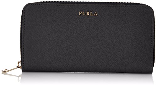 Furla Damen Babylon Xl Zip Around Geldbörse, Schwarz (Onyx), 1.9x10x19.5 cm