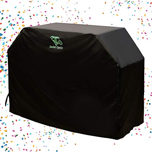 Zadst Cycle Grill Cover Heavy-Duty Waterproof Large BBQ Gas Grill Cover 72 inch 3 Burners Grill Accessories Outdoor Burner Cover UV-Resistant Black for Char-Broil,Weber,Blackstone,Nexgrill,GC-S72in Covers Grill