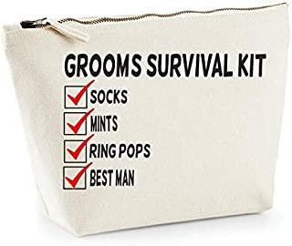hiusan Groom Survival Kit Checklist Add Your Own Personalized Wedding Engagement Party Gift Makeup Bag Wash Travel Make Up Bag Organizer Cosmetics Bag Case