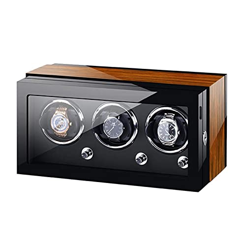Enrollador automático de relojes, relojes y joyas Enrolladores automáticos de relojes Caja 3 Almohadilla suave y flexible para relojes Configuraciones controladas de forma independiente Fuente de ali