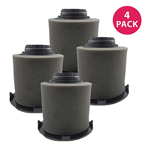 Crucial Vacuum Pre-Filter Replacement - Compatible with Dirt Devil Part # 1JW1100000 & 2JW1000000, Dirt Devil F16 HEPA Style Filter & Foam Pre-Filter - Durable, Compact, Washable (4 Pack)