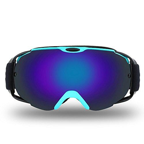 Lixada Skibril, geventileerd, sferisch, dubbele lens, voor sneeuwscooter, skiën