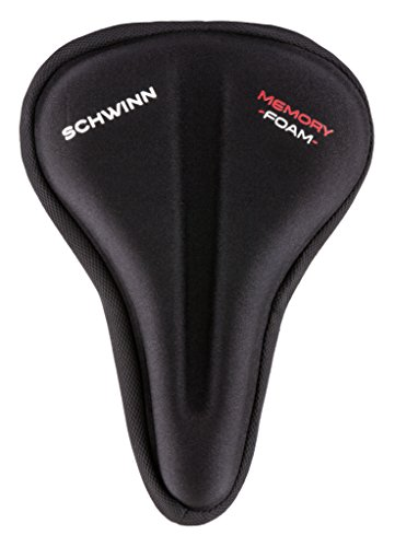 Schwinn Comfort Bike Seat, Double Gel, Wide Saddle Cover, Black