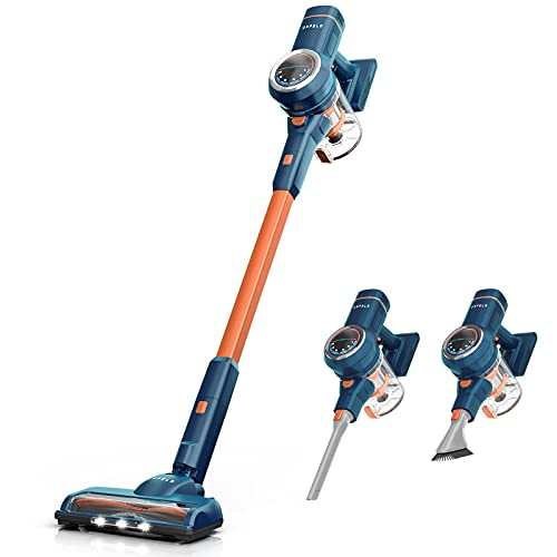 ORFELD Cordless Vacuum Cleaner, 24000Pa Powerful Suction Stick Vacuum 40 mins Runtime, 3 Cleaning Modes, 5 in 1 Ultra-Quiet Handheld Vac Self-Standing for Hard Floor Car Pet Hair