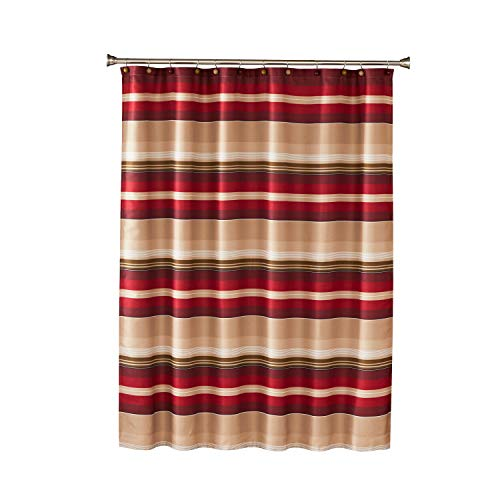 SKL Home by Saturday Knight Ltd. Madison Stripe Shower Curtain, Red