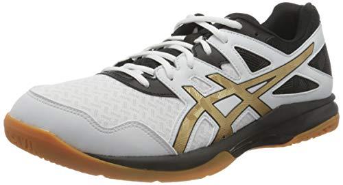 ASICS Gel-Task, Scarpe da pallavolo Uomo, Bianco (White/Pure Gold), 44.5 EU