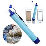 BonTime 1 unid Filtro de Agua a presi/ón port/átil Purificador Agua Potable Salvaje Senderismo Acampar Viajar al Aire Libre