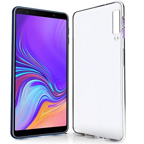 NewTop N Cover Compatibile per Samsung Galaxy A7 2018 A750, Custodia Morbido TPU Clear Protettiva Gel Silicone Trasparente Slim Sottile Case Posteriore