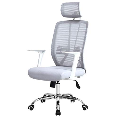 Daily Equipment Mesh Office Chair Ergonomic Design Nylon Mesh Durable and Strong Native Sponge Sedentary and Not Deformed Bearing 200Kg Suitable for Office Personnel Color Gray