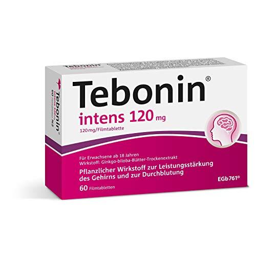 Tebonin intens 120mg bei akutem und chronischem Tinnitus* – Pflanzliches Arzneimittel mit Ginkgo-Spezialextrakt EGb 761(R) – 200 Filmtabletten