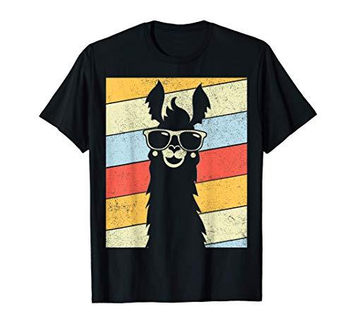Vintage Retro Style Llama Alpaca 80's Llama Lovers Gift T-Shirt