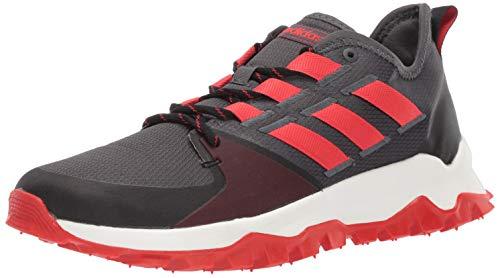 adidas Men's Kanadia Trail, Grey/Active red/Black, 9.5 M US