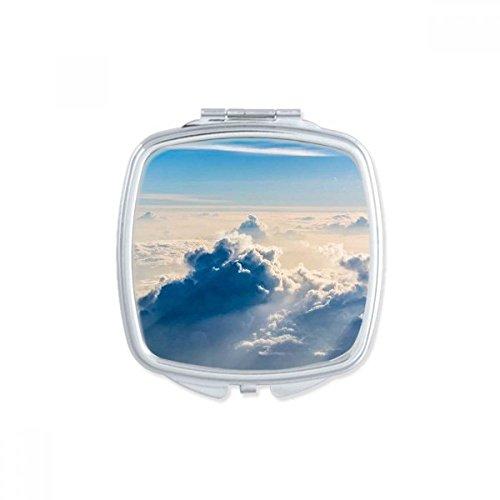 DIYthinker Big Ben Nuages Bleu Sky Place Makeup Compact Miroir de Poche Miroirs Mignon Petit Cadeau Portable à la Main Multicolor