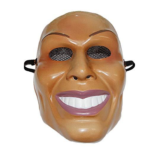 The Rubber Plantation TM 619219292153 The Purge Mask Costume d'Halloween pour homme souriant Unisexe Adulte Taille unique