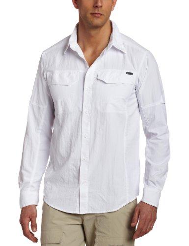 Columbia Langarm-Wanderhemd für Herren, Silver Ridge Long Sleeve Shirt, Nylon, weiß, Gr. XXL, AM7453