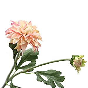 shlutesoy Artificial Flowers Outdoor UV Resistant,Artificial Flower Multi-use Bright-Colored Faux Silk Flower Simulation Dahlia Display for Gifts,Home Wedding Decoration Pink