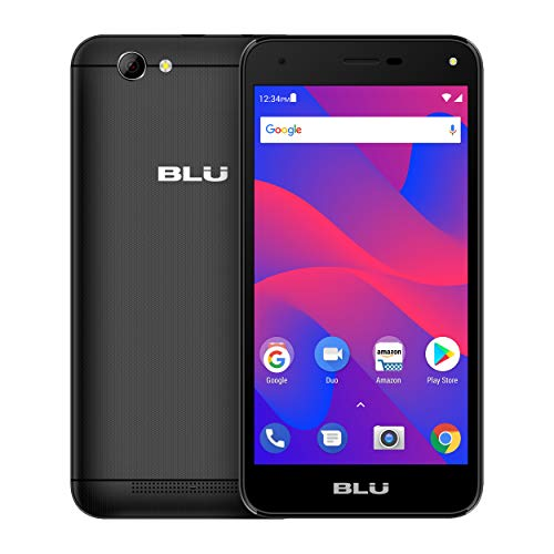 BLU Advance S5 HD – Unlocked Single Sim Smartphone, 16GB+1GB RAM -Black