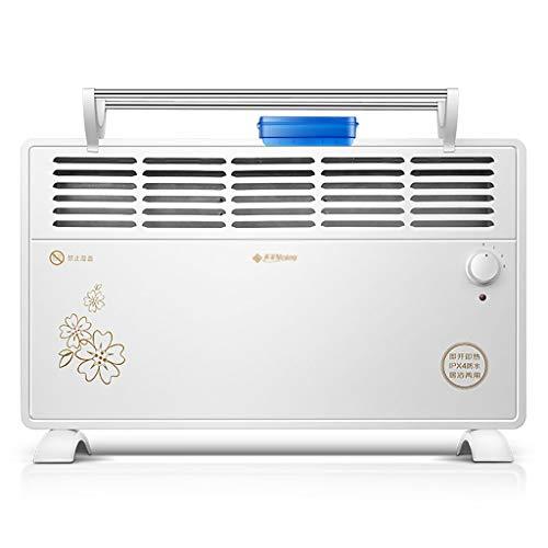 LP radiator, convector, vrijstaand, voor keuken/keuken, 2000 W, met 3 temperatuurinstellingen, veiligheidsuitsnijding en waterbestendig