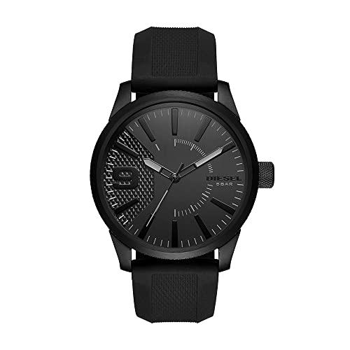 Diesel Herren Analog Quarz Uhr mit Silikon Armband DZ1807