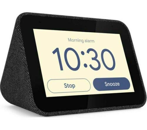 LENOVO Smart Clock with Built in Google Assistant - Black