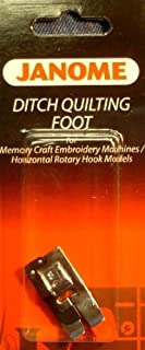 Janome Ditch Quilting Foot Memory Craft Embroidery Machines Horizontal Rotary Hook Models
