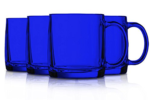 color Arc International Luminarc Nordic Tea Mug, 16-Ounce, Set of 4 Blue