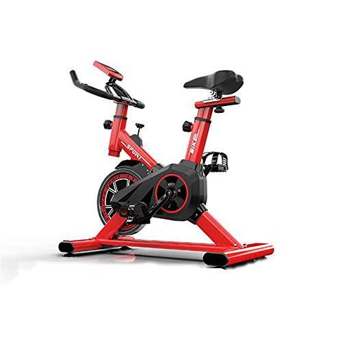 JINBAO Cyclette, Cyclette da Interno, Bicicletta Fitness ultracilenziosa da casa con Comodo Cuscino del Sedile, Monitor LCD, per Allenamento di Resistenza