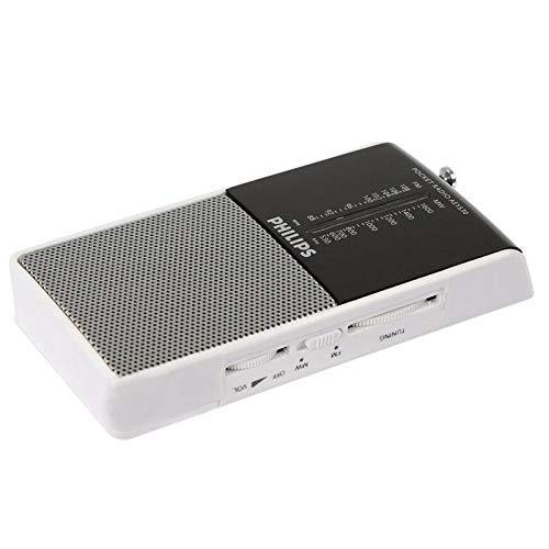 Philips Tragbares Radio AE1530/00 Portables Radio (Analoger UKW/MW-Stereotuner, Kopfhöreranschluss, Batteriebetrieben) Schwarz/Silber