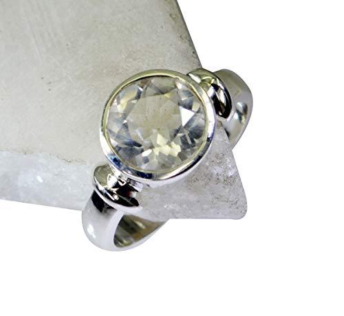 riyo Edelstein 925 Sterling Silber einladend echten weißen Ring Geschenk 47 (15.0)