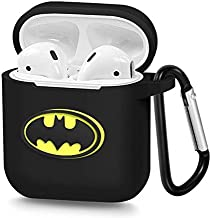 Airpods Case Batman Accessories Silicon Protective Charging Case with Carabiner, Compatible with Apple Airpods 1 & 2 | X.M. …