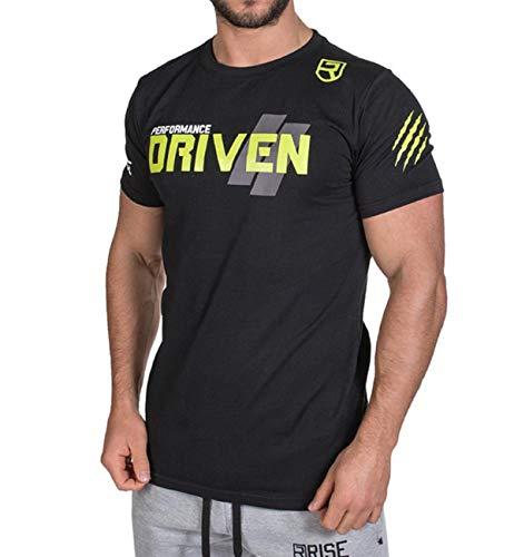 (ビベター)Bebetter メンズ Tシャツ 半袖 スポーツシャツ トレーニングウェア フィットネス 吸汗速乾 ジムウェア ボディビル M