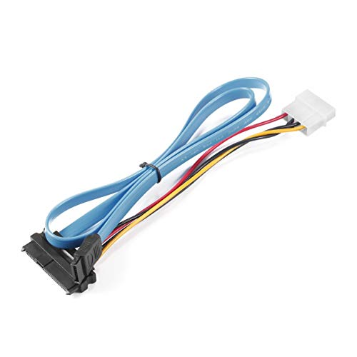 7 Pin SATA Serial ATA zu SAS 29 Pin & 4 Pin-Kabel Stecker-Stecker-Adapter