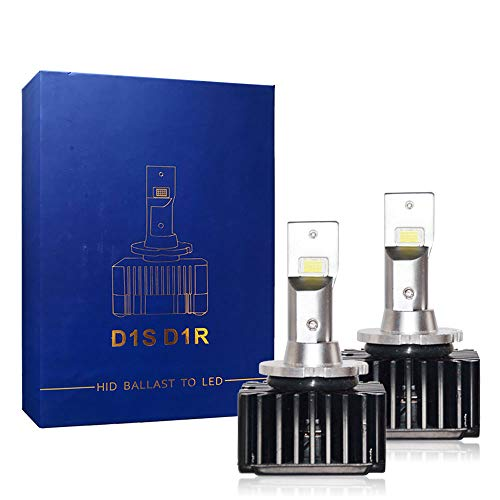 Bright LED Headlight Bulbs Conversion Kit D1S D1R 8400LM 70W, LED CSP Chips 6000K White For Car Truck High&Low Beam Light Replacement HID Xenon Plug N Play