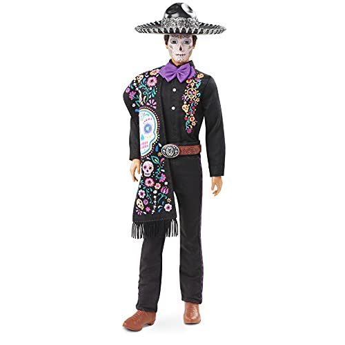 Barbie Signature Ken Día de Muertos, muñeco de colección de juguete (Mattel GXL26)