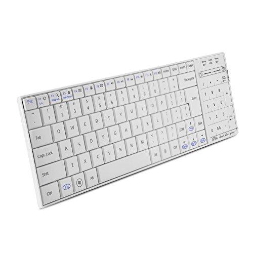 Borlai Toetsenbord Touch Pad Wireless 2 in 1 Touchpad cijferknop en muisfunctie voor tablet Wit