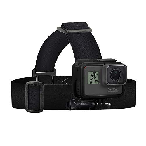 Wealpe Kopfgurt Kopfhalterung Kopfband Halterung Kompatibel mit GoPro Hero 9, 8, 7, Max, Fusion, Hero (2018), 6, 5, 4, Session, 3+, 3, 2, 1, DJI Osmo, Xiaomi Yi Kameras