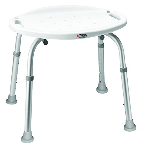 carex health brands shower chairs Carex Adjustable Bath and Shower Seat – Shower Stool - Aluminum Bath Seat - Shower Chair with Handle
