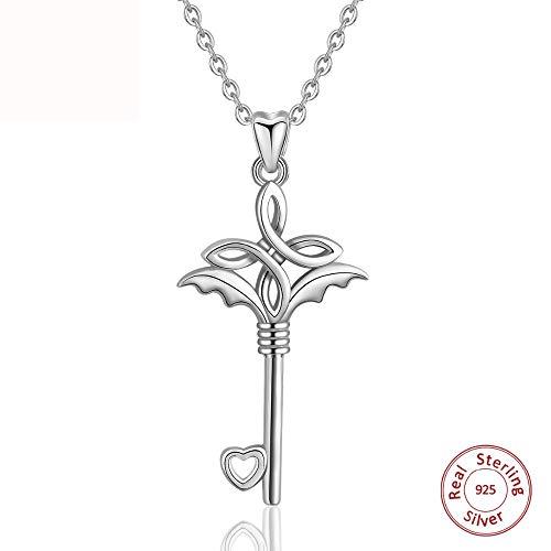 GYXYZB 925 Sterling Zilver Knoop Symbolen Sleutel Hanger Ketting Voor Vrouwen Mannen Fijne Zilveren Sieraden Pendentif
