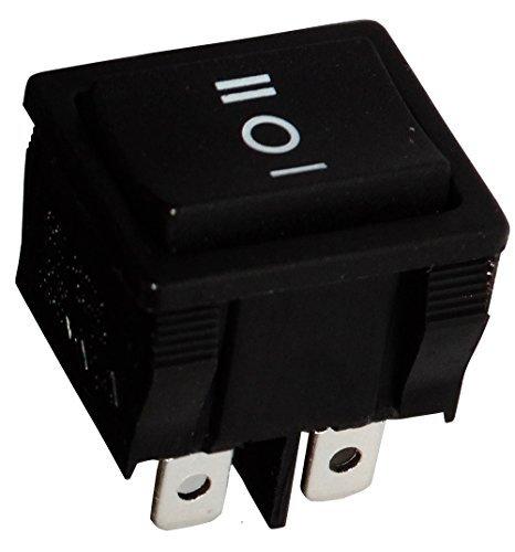 Aerzetix - Unterbrecher, Schalter Knopfschalter Switch Kippschalter Druckschalter DP3T ON-OFF-ON 6A/250V Schwarz 3 Positionen