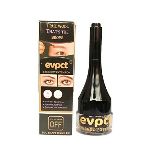 S-TROUBLE Extension de Sourcils Crème Teinture Pommade 3D Eye Brow Fibre Gel Enhancer Faux Barbe Teinte Stylo Noir/Marron Maquillage Étanche Outils Cosmétiques