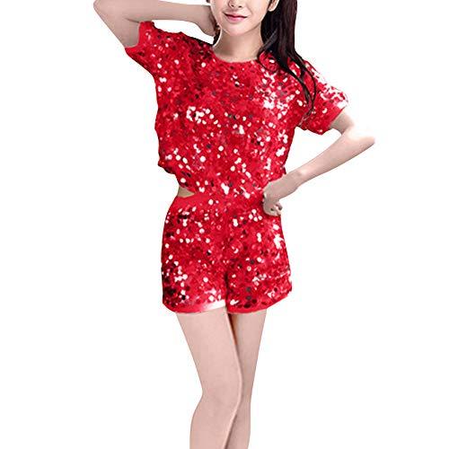 Yudesun Tanzsport Bekleidung Damen Kleider - Frauen Cheerleading Uniformen Anzüge Sets Musical Kostüm Kostüme Tanzen Jazz Modern Pailletten Tanzbekleidung
