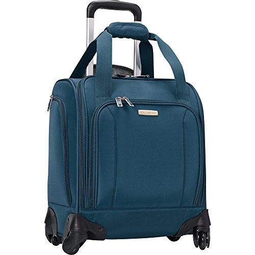 Samsonite Spinner Underseater with USB Port, Rolling Carry-On With Laptop Pocket - Fits 14.2 Inch Laptop - (Majolica Blue)