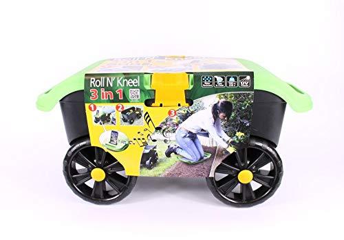 3 in 1 Gartenhocker, Aufbewahrungsbox,mit robusten Rollen,multifunktional, ideal für den Außenbereich,leicht, abnehmbares Kniekissen, separater Hocker, inklusive Telefonhalter