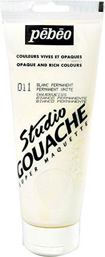 Studio Gouache 220-Milliliter, Permanent White