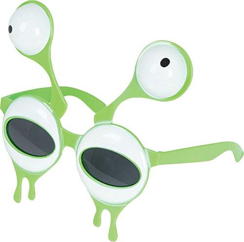Party Kostüm Zubehör Marsmensch Fach Monster Alien Style Brillen