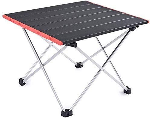 Lanrui Leichter Tragbarer Klappbarer Camping-Tisch Silber Aluminiumoxid Robust Langlebig Für Camping Im Freien Wandern Barbecue Klappbarer Stuhl