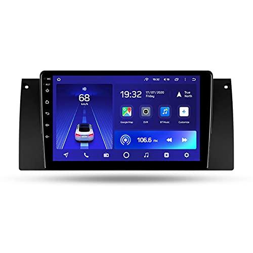 Android 10 9'' Car Multimedia 5G Wifi Bluetooth Car Radio Para BMW X5 E39 E53 1999-2006,Con Enlace Espejo/GPS/Mandos De Volante/Cámara Trasera/3D Dinámica De Conducción En Tiempo Real,Cc2l,2+32G