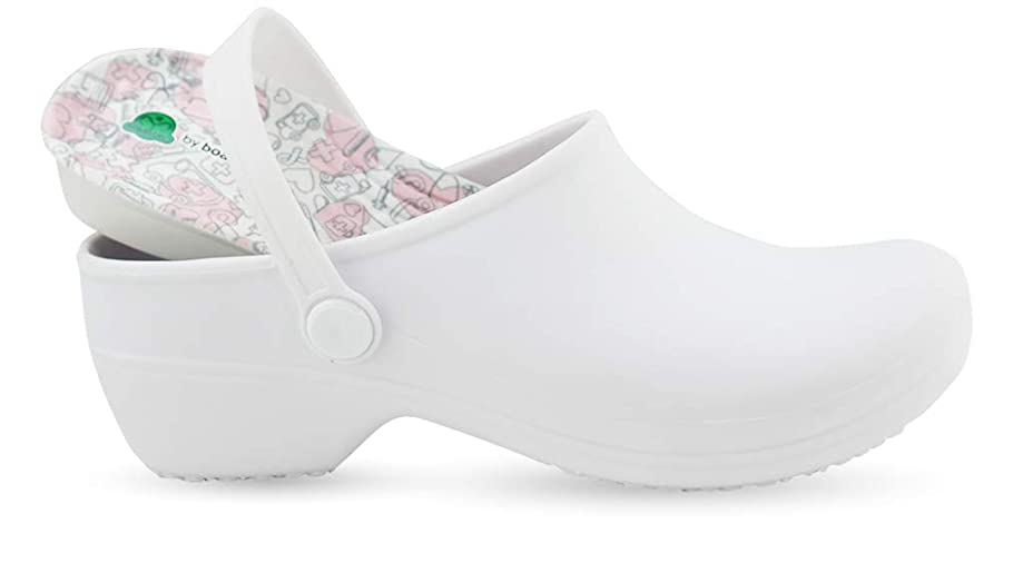 Comfortable Clogs for Women - Bio Printed Insole for Healtcare Professionals - Nursing Clogs